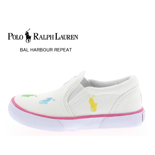 0dd7ddc5f Polo Ralph Lauren POLO RALPH LAUREN BAL HARBOUR REPEAT 91557 Bal Harbour  repeat kids baby slip-on sneakers  12-16 cm  shoes children shoes boys girls  ...