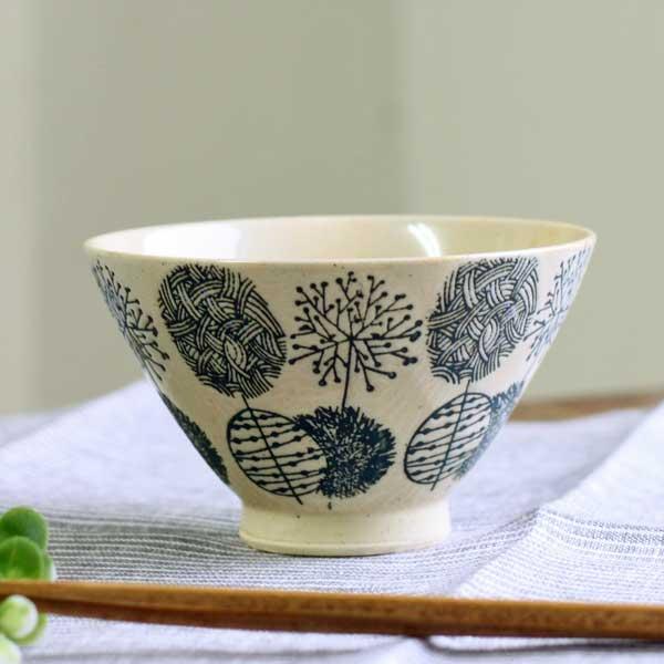 波佐見焼 メイルオーダー 茶碗 シンプル ご飯 食器 おしゃれ 陶器 飯碗 はさみやき 飯碗青 カフェ 雑貨 ナチュラル マットリーフ 商舗 花柄 北欧