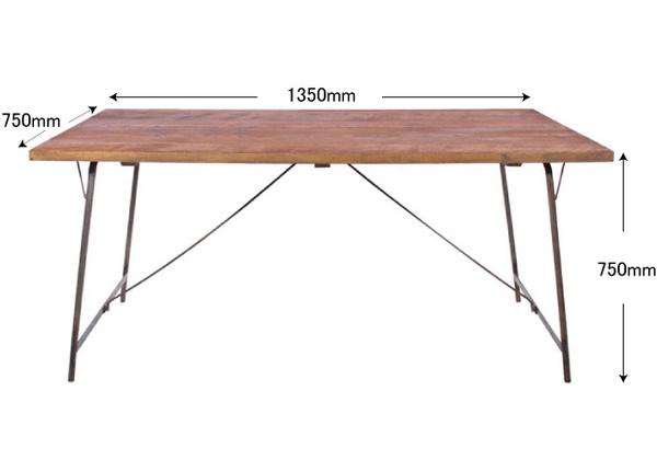 ソコフ ワークダイニング テーブル(1350)【インダストリアル ブルックリン おしゃれ インテリア かっこいい シンプル】