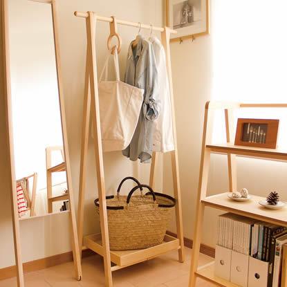 cosine(コサイン) ドレスラック ナラ 【送料無料】 【ナラの天然木を使用して、北海道で丁寧に作っています 北欧雑貨】