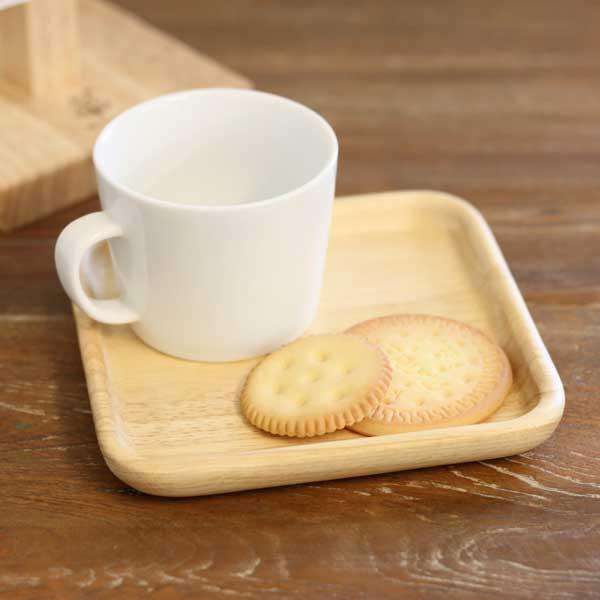 キッチン雑貨 木製 高品質 おしゃれ ナチュラル 至上 北欧雑貨 木製スクエアディッシュ S ボヌール カフェ 雑貨 北欧