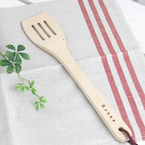 スパテラ 木べら 流行 木製 へら 正規品 キッチン雑貨 キッチン用品 北欧雑貨 SALUS カフェ ナチュラル 雑貨 北欧 おしゃれ Bonne 角型スパテラ