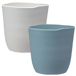 シンプルでナチュラルな手作り感のある陶器風デザイン アトリエポット 23型 2019年新商品 鉢カバー サロン 6号鉢用 本物 アップル 美容室 レビューを書けば送料当店負担