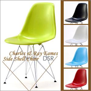 【組み立て済】チャールズ&レイ イームズデザイン サイドシェルチェア DSRCharles & Ray Eames Side Shell Chair DSR(Dining shell Rod wire base)