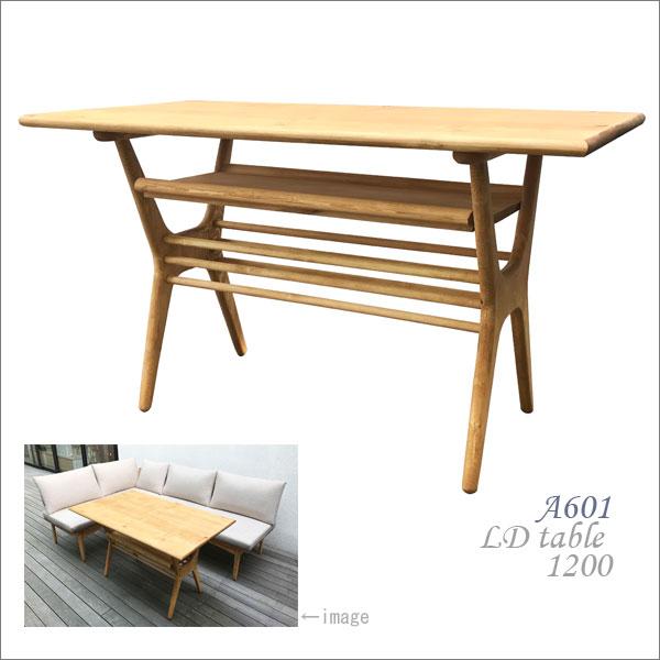リビングダイニングテーブル 1200 LDテーブル パイン材 オスモオイル(無公害塗料)仕上げ LD TABLE 1200