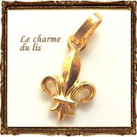 アイテム勢ぞろい ☆フランス直輸入☆ 値下げ ユリの紋章型チャーム ゴールド