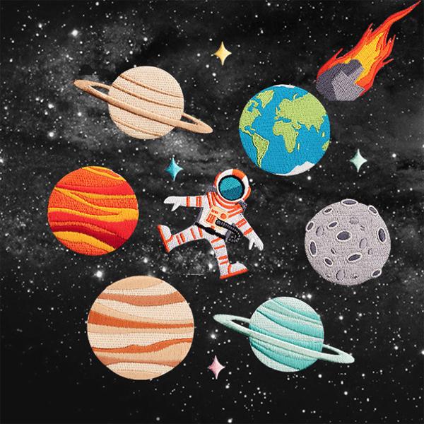 宇宙なワッペン 定形郵便 100円 宇宙 シリーズ ワッペン 刺繍 アップリケ 月 土星 地球 宇宙飛行士 限定タイムセール 火星 木星 ミシン 激安通販ショッピング 手芸