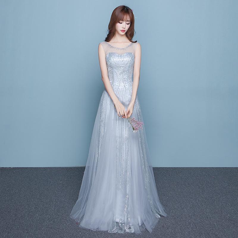 ウエディングドレス カラー 結婚式 披露宴 ウエディングドレス 大きいサイズ カラードレス ロング丈 花嫁二次会 シルバー 袖あり ノースリーブ シンプル 韓国
