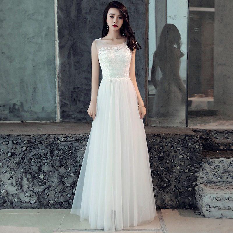 ウエディングドレス 大きいサイズ 3L 小さいサイズ スレンダーライン 白 ロングドレス エンパイアライン 二次会 花嫁 袖なし ウエストリボン 背中開き 刺繍 花柄 セクシー 結婚式