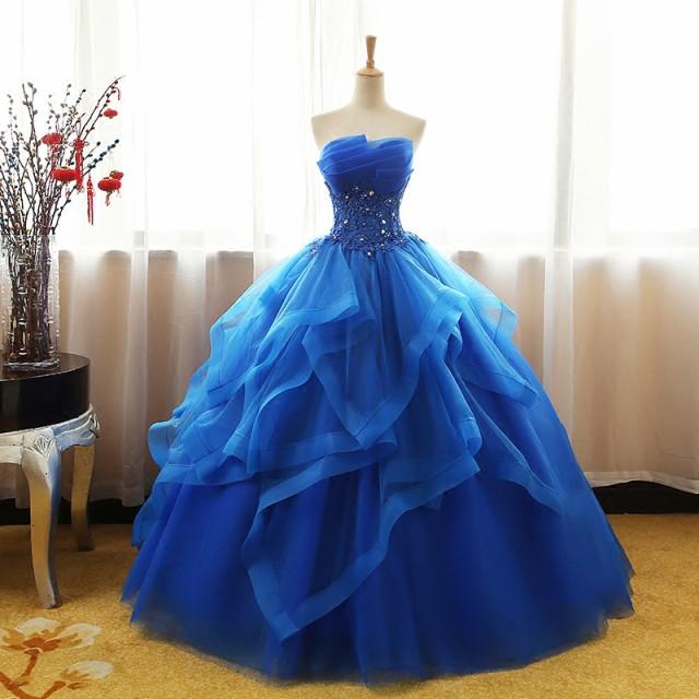 大きいサイズ ウエディングドレス カラードレス 演奏会 発表会 ドレス 大人 ロング チューブトップ ロングドレス 結婚式 披露宴 二次会