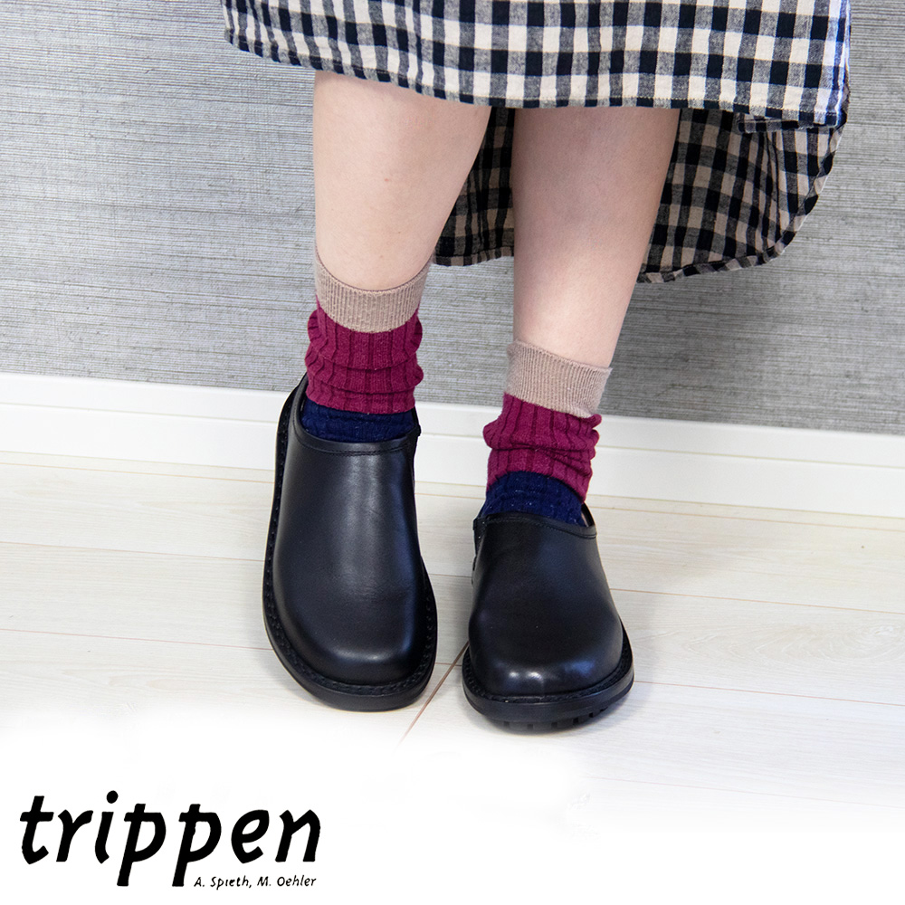 "trippen(トリッペン) ""YEN""レザースリッポン"