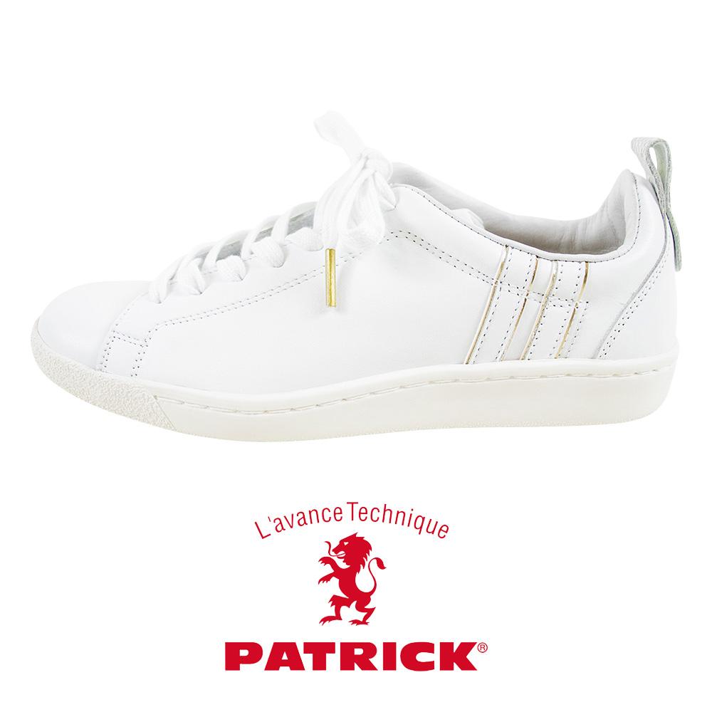 【クーポン利用不可】パトリック PATRICK SKURUP +GD スクループ プラスゴールド WHITE スニーカー