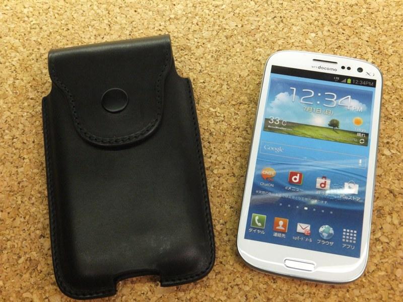 Leather field SEFIA オイルドレザーベルトオン スマートフォンケース iphone6・7.8 特注サイズ