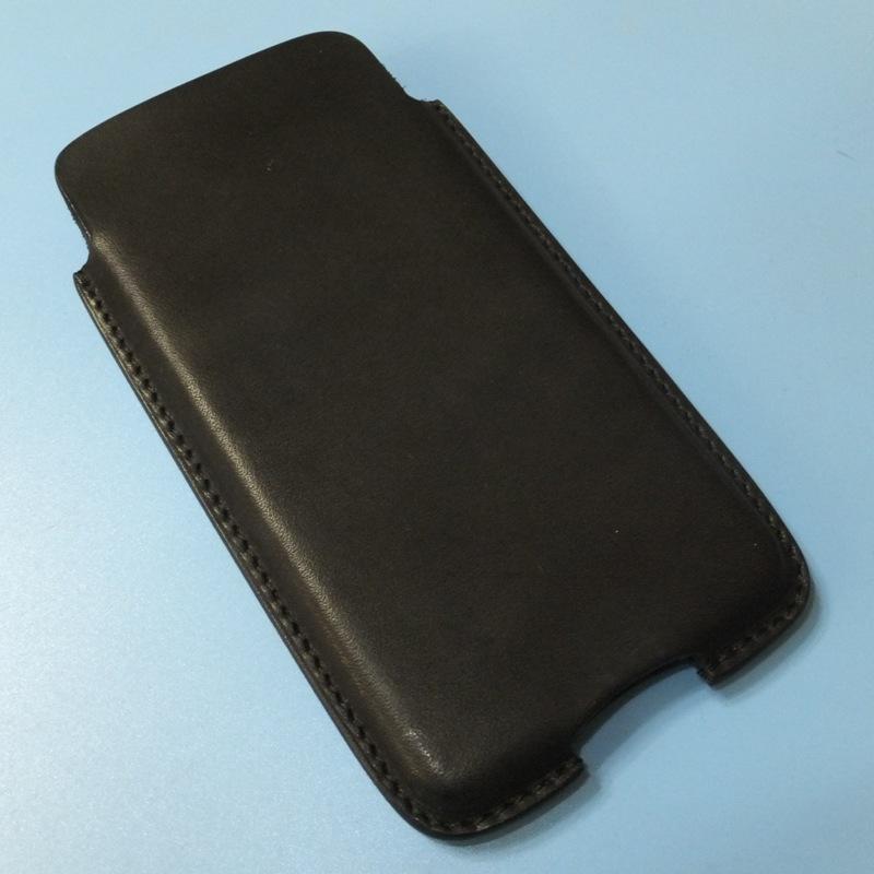 Leather field SEFIA オイルドレザーベルトオン スマートフォンケース iphoneXR 特注サイズ