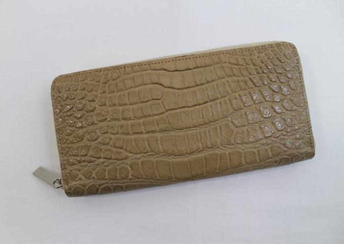 クロコダイル 長財布 レディース メンズ 熟練職人特製 クロコダイル 財布 日本製 センター取り ラウンドファスナー