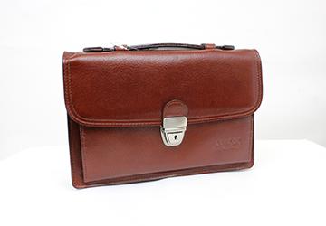 【ビジネスバッグ】多機能セカンドバッグ(クラッチバッグ)(牛革×帆布/日本製)