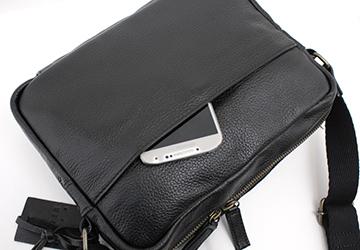横型ショルダーシンプルバッグ(牛革)/メンズ/革バッグ/革鞄/レザーバッグ/日本製/ビジネスバッグ/ショルダーバッグ/プレゼント/ギフト/本革/父の日ギフト