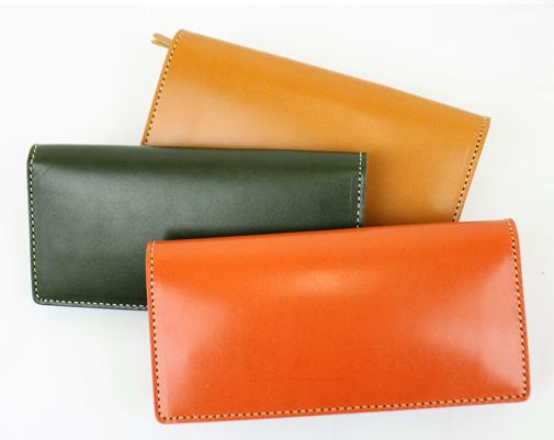 【長財布】鮮やかな発色が美しい!日常を彩る革財布(牛革/日本製(Kc's))