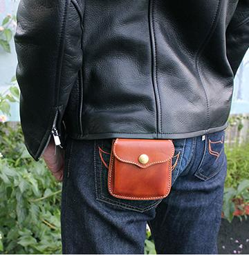 【二つ折り財布】小銭入れが外側に付いた二つ折り財布(牛革/日本製)