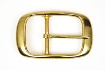 色:ブラス 真鍮製 40 mm用 真鍮製シングルピンバックル 40mm クラフト レザークラフト金具 レザークラフト 手数料無料 革 バックル ハンドメイド 営業