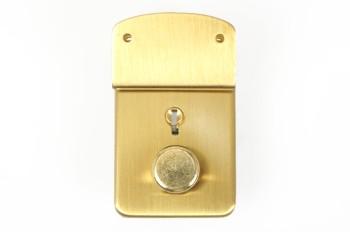 色: ゴールド マット調 小鋲2本 鍵付き 錠前 47×29 G 協進エル レザークラフト 手芸 差込 ハンドメイド クラフト 差し込み 差込み 美品 爆買いセール 金具