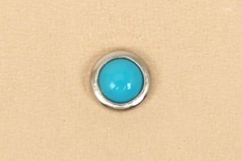 美しい輝きの飾り鋲 直径:6.5 mm プラストーン ターコイズ カシメ止め 日本製 数量限定アウトレット最安価格 小 2コ入り SEIWA 手芸 レザークラフト クラフト カシメ かしめ ストーン ハンドメイド 飾り リベット