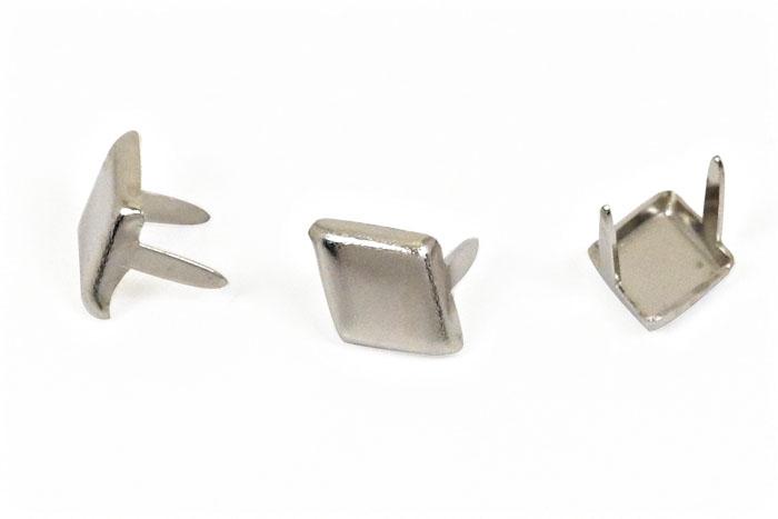ダイヤモンドスポッツ・ニッケル<9.5mm> 1000個 レザークラフト材料 ハンドメイド材料 手芸 革 ソリッドブラス製ニッケルメッキ スタンダードリベット社