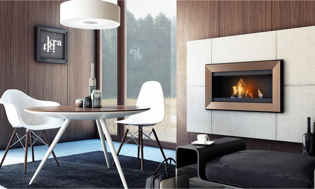 KRATKI クラトキ CHARLIE チャーリー 壁掛け型暖炉 バイオエタノール暖炉 ストーブ 暖房