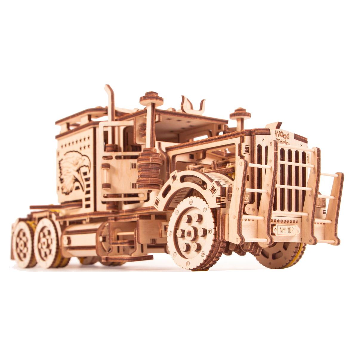Wood Trick ウッドトリック ビッグリグ/大型トラック 3Dウッドパズル 子供も大人も楽しめる木製パズルの組立キット・工作キット