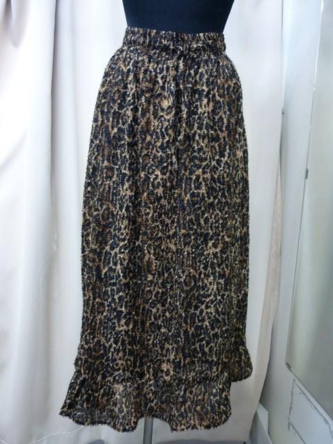 売り出し フランスSUZIE WINKLEスージーウィンクルレオパード柄シャギーロングスカート 安心の定価販売 アウトレット 新品 SALE