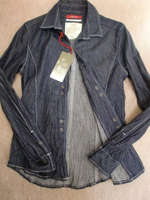 JUDDY 流行 ファッション通販 CORN綿100%ワッシャーデニムシャツ アウトレット SALE 新品