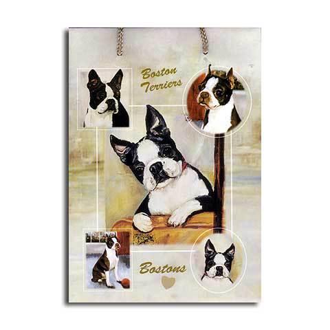 ギフトバッグ 大 ボストン・テリア 世界的に有名な動物画家「ルス・メイステッド」さんデザイン(紙袋 犬グッズ コレクション USA デザイナーブランド ラッピング ラッピングバッグ 手提げ 犬雑貨 誕生日 プレゼント ギフト 母の日 通販 楽天)母の日 こどもの日 ギフト