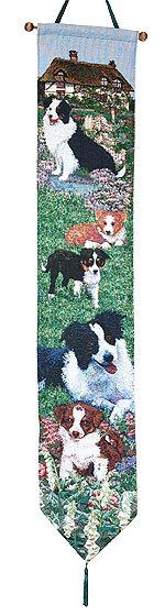 ゴブラン織り壁掛け【ボーダー・コリー】・ベルプル【送料無料】 インテリア  プレゼント ギフト 犬 ルシアン