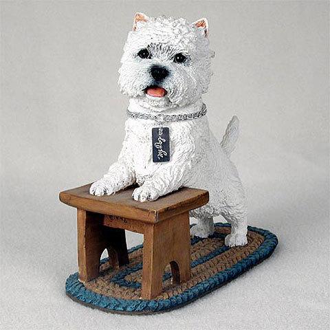 【送料無料】犬の置物 フィギア 【ウェスティー】My Dog Collection(犬 グッズ 雑貨 動物 置物 インテリア ガーデニング) 卒業式 プレゼント ギフト お返し ルシアン