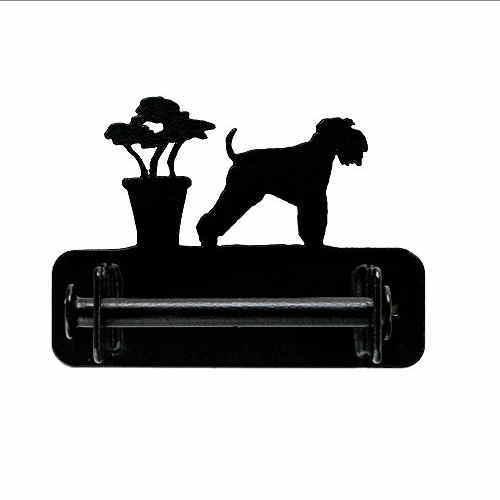 【送料無料】トイレットぺーパーホルダー 【シュナウザー タイプ2 長尾】from UK (犬 グッズ アイアン 犬雑貨 インテリア アンティーク調 ペーパーホルダー トイレ 新築祝い) 卒業式 プレゼント ギフト お返し ルシアン