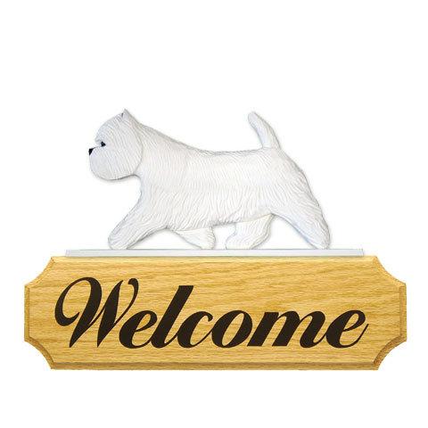 【送料無料】ウェルカムサイン 【ウェスティー】from USA (犬グッズ ウェルカムボード オーナーグッズ 玄関 開店祝い 犬雑貨 インテリア 看板 玄関グッズ セキュリティーグッズ) 卒業式 プレゼント ギフト お返し ルシアン