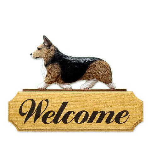 【送料無料】ウェルカムサイン 【コーギー(セーブル)】from USA (犬グッズ ウェルカムボード オーナーグッズ 玄関 開店祝い 犬雑貨 インテリア 看板 玄関グッズ セキュリティーグッズ) 卒業式 プレゼント ギフト お返し ルシアン