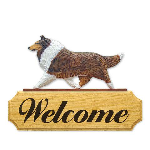 【送料無料】ウェルカムサイン 【コリー(ラフ)(セーブル)】from USA (犬グッズ ウェルカムボード オーナーグッズ 玄関 開店祝い 犬雑貨 インテリア 看板 玄関グッズ セキュリティーグッズ) 卒業式 プレゼント ギフト お返し ルシアン