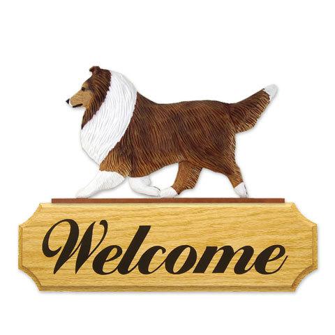【送料無料】ウェルカムサイン 【シェルティー(セーブル)】from USA (犬グッズ ウェルカムボード オーナーグッズ 玄関 開店祝い 犬雑貨 インテリア 看板 玄関グッズ セキュリティーグッズ) 卒業式 プレゼント ギフト お返し ルシアン