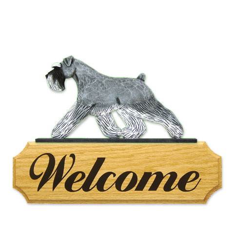 【送料無料】ウェルカムサイン 【シュナウザー(ソルト&ペッパー)】from USA (犬グッズ ウェルカムボード オーナーグッズ 玄関 開店祝い 犬雑貨 インテリア 看板 玄関グッズ セキュリティーグッズ) 卒業式 プレゼント ギフト お返し ルシアン