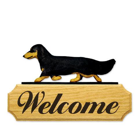 【送料無料】ウェルカムサイン 【ダックス(ロング)(ブラタン)】from USA (犬グッズ ウェルカムボード オーナーグッズ 玄関 開店祝い 犬雑貨 インテリア 看板 玄関グッズ セキュリティーグッズ) 卒業式 プレゼント ギフト お返し ルシアン