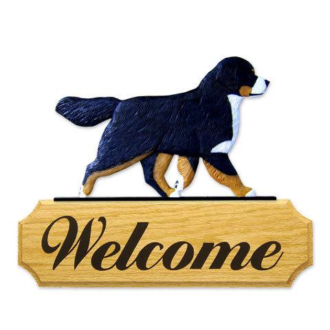 【送料無料】ウェルカムサイン 【バーニーズ】from USA (犬グッズ ウェルカムボード オーナーグッズ 玄関 開店祝い 犬雑貨 インテリア 看板 玄関グッズ セキュリティーグッズ) 卒業式 プレゼント ギフト お返し ルシアン