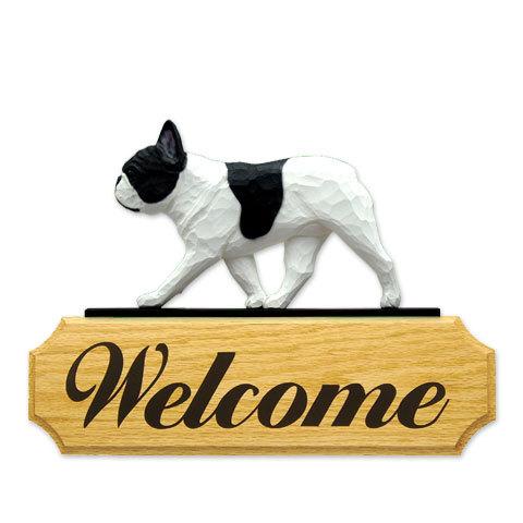 【送料無料】ウェルカムサイン 【フレブル(パイド)】from USA (犬グッズ ウェルカムボード オーナーグッズ 玄関 開店祝い 犬雑貨 インテリア 看板 玄関グッズ セキュリティーグッズ) 卒業式 プレゼント ギフト お返し ルシアン