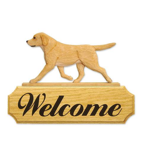 【送料無料】ウェルカムサイン 【ラブ(イエロー)】from USA (犬グッズ ウェルカムボード オーナーグッズ 玄関 開店祝い 犬雑貨 インテリア 看板 玄関グッズ セキュリティーグッズ) 卒業式 プレゼント ギフト お返し ルシアン