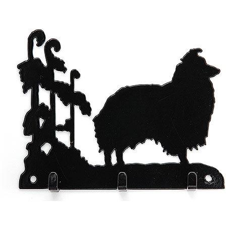 アイアン製 リードフック 3フックタイプ 【シェルティー】イギリス製 鍵かけ プレゼント ギフト  お返し ルシアン