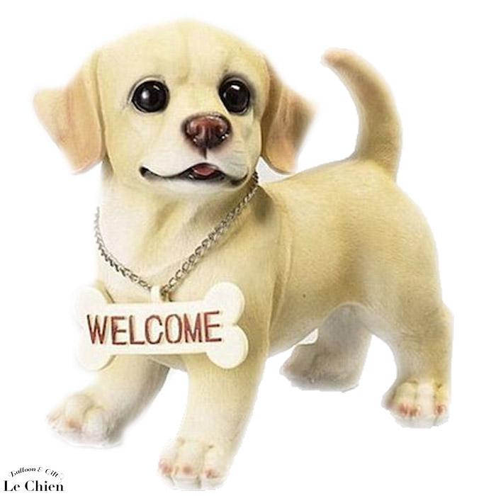 【犬の置物】 ラブリーウェルカムドッグ ラブラドール レトリバー 犬グッズ 犬雑貨 贈り物 誕生日 記念日 玄関 インテリア 動物 アニマル オブジェ おしゃれ ガーデン 通販 プレゼント ギフト お返し ルシアン