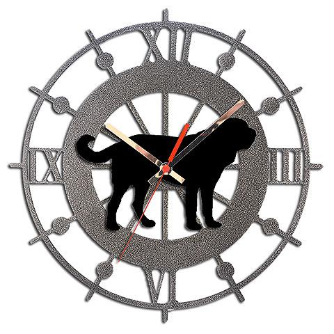 【セントバーナード グッズ】落ち着いた雰囲気のウォールクロックに、犬のフィギュアを合わせた壁掛け時計です。 時計 壁掛け ウォールクロック メタルクロック【セントバーナード】イギリス製 犬グッズ インテリア 新築祝い 開店祝い 引越し祝い 犬 記念品 プレゼント ギフト お返し アニマル雑貨ルシアン