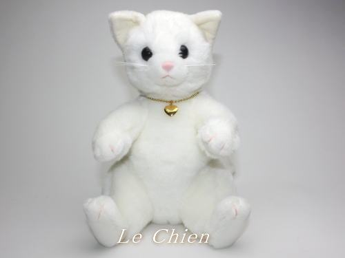 Lechien White Stuffed Cat Misha Cat Stuffed Animal Cat Toy Kitten