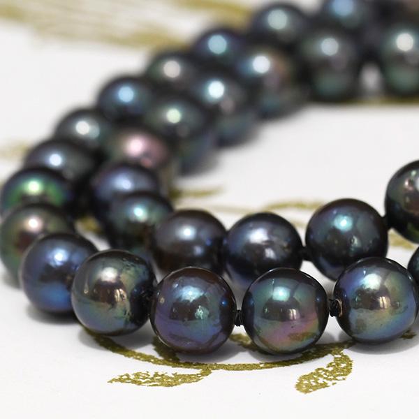 スーパーセール期間限定 9mm 夜色 淡水真珠 シックだけど華のあるミステリアスブラック ネックレス 公式ショップ