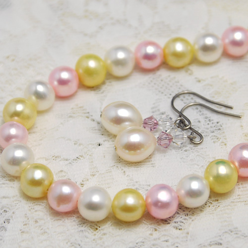 Lecollier Pearl Multi Color Freshwater Pearl Necklace Amp